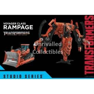 [Pre-Order] Hasbro Takara Tomy TF Studio Series Voyager Class – SS-37 SS37 ROTF Constructicon Rampage [collect all 8 ROTF Constructicons to form ROTF Devastator]