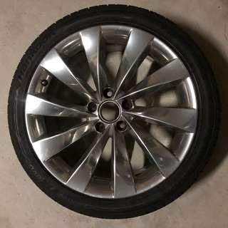 Scirocco stock rims with Hankook