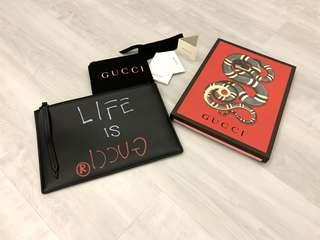 🚚 Authentic Gucci Ghost Pouch