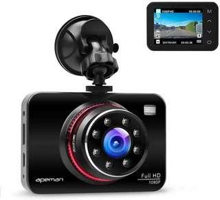 🚚 APEMAN Dash Cam C660 1080P FHD DVR Metal Driving Video Recorder 8 IR LED Lights Super Night Vision 170°Wide Angle with WDR, Loop Recording, G-sensor, Parking Monitoring, Motion Detection