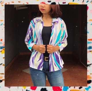 🌼 A24 - Funky Purp Shirt 🌼