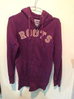 🚚 Roots 紫色連帽外套 xs