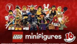 🚚 Lego 8831 - Complete set of 16 series 7 minifigures (new, repacked in ziploc, Unassembled with instruction sheet, packaging, base plate)
