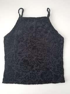 Garage Velvet Crop Tank Top SMALL