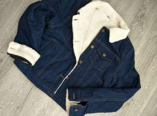 Denim Jacket Wool Winter Jacket