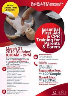 FIRST AID & CPR FOR PARENTS AND CARERS