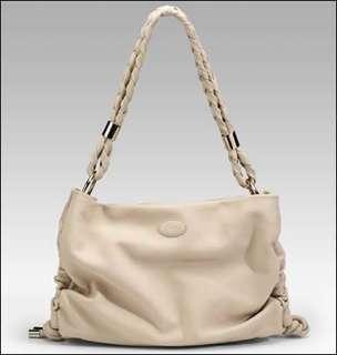 Tods Softy Tracolla Handbag in Light grey