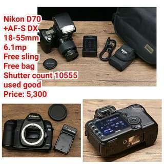 Nikon D70 +AF-S DX  18-55mm