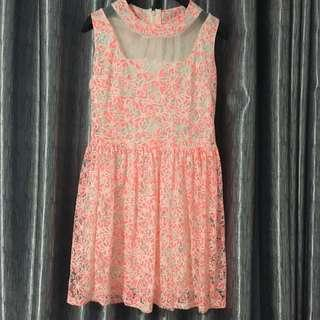 Dress flowery pink