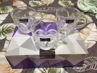 🚚 Delisoga 黎明系列 玻璃杯 茶杯 花雕杯 造型杯6入組