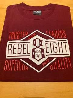 🚚 舊金山REBEL EIGHT M號酒紅色短袖Tee(滑板/刺青/街頭/塗鴉)