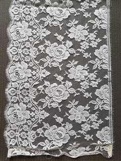 NEW Kain Brocade import White motif bunga