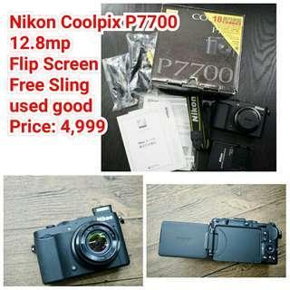 Nikon Coolpix P7700 12.8mp  Flip Screen