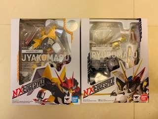 (日版全新) NXedge 龍王丸, 邪虎丸 Mashin Unit NX-0034, NX-0042