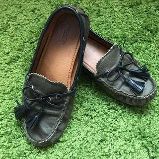 COACH Green Loafers for sales
