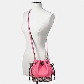 Brand new Coach spring collection floral leather bucket bag $350