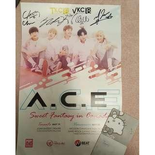 OFFICIAL signed ACE poster