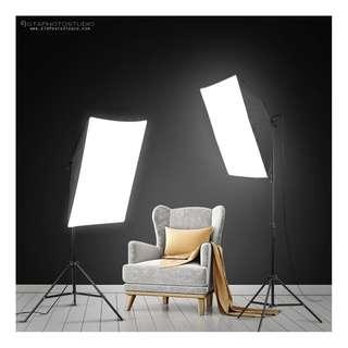 1800w Photo Video Continuous Softbox Lighting Kit BRAND NEW / GTAPhotoStudio . com