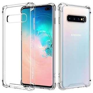 🚚 Samsung S10 Plus Shockproof Crystal Clear Hard Back Case