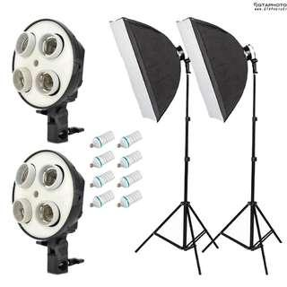Continuous Photo Video Softbox Lighting Kit
