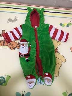 可愛聖誕老人嬰兒連體衣