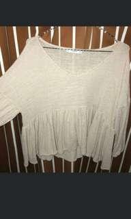 Mango blouse knit