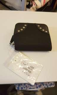 Studded nylon wallet
