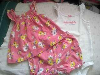 Baju carters set original 12 bulan, take all