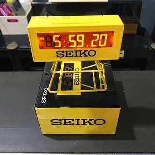 Seiko Japan countdown style table clock