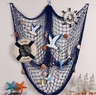 🚚 🧜♀️NAUTICAL FISHING NET DECO! WALL DECO! UNDER THE SEA BIRTHDAY THEME
