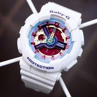 🚚 HAILEY💝QUINN Theme FAST🌟SELLING : 1-YEAR OFFICIAL WARRANTY : 100% ORIGINAL AUTHENTIC BABY-G : Best Gift For Most Rough Users : / BA-112-7A / BA112-7 / CASIO / BABYG / WATCH