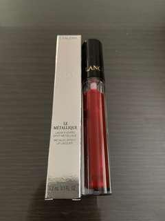 Brand new Lancôme le metallique lip lacquer in rouge magma