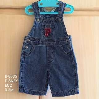 Disney Baby Boy Denim Jumper 0-3M