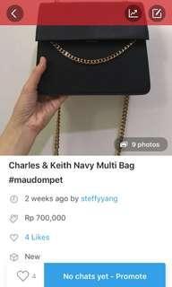 SALE!! Navy Bag CK