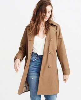 Abercrombie & Fitch Classic Trench Coat XS