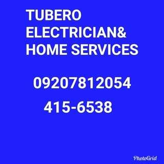 tubero and electrician home service