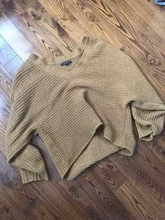 Mustard Yellow Cropped Sweater