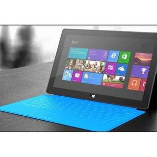 Microsoft surface INTEL i5 90% new surface pro windows 10 tablet 11inch touch screen 連原裝鍵盤 手寫筆, 繪圖極之方便