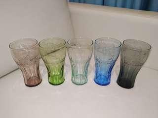 麥當勞2010南非世界盃可口可樂玻璃杯1套5隻(全新未用過)