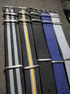Nato Straps 20mm Set of 5pc
