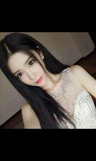 🚚 (No instocks!)Peorder korean centre parting natural straight long wig * waiting time 15 days after payment is made *chat to buy to order