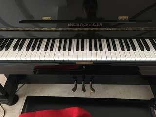 Top Condition, like new Bernstein Piano with pedals