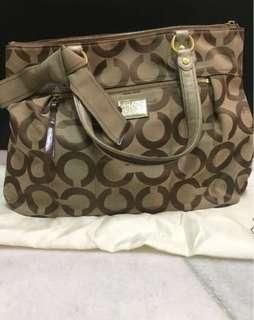 Authentic Coach Poppy Tote