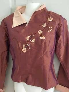 Taffeta 100% Silk (new) long sleeve top #50under