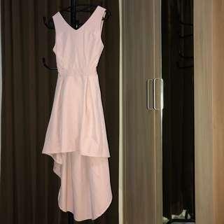 ASYMMETRICAL PINK DRESS