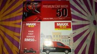 Premium Car Wash Rm 50+Rm 50 Car service with MAXX Service for Rm 90