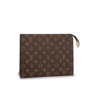 NEW AUTHENTIC LOUIS VUITTON TOILETRY POUCH 26