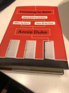 Thinking in bets -Annie Duke