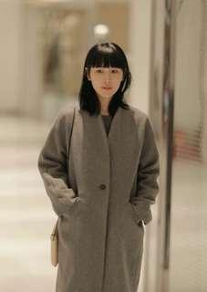 🚚 studio doe小立領繭型大衣