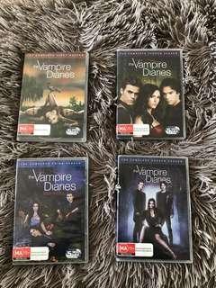 The vampire diaries seasons 1,2,3 and 4